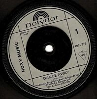 "ROXY MUSIC Dance Away 7"" Single Vinyl Record 45rpm French Polydor 1979 EX"