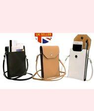 Ladies PU Leather Crossbody Mobile Phone Purse Womens Small Shoulder Bag Handbag