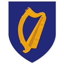 "Ireland Coat of Arms Flag car bumper sticker window decal 4"" x 5"""