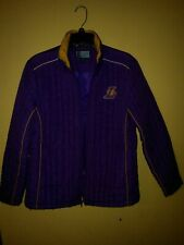 VTG Lakers Jacket NBA 4 Her Womens purple GIII by Carl Banks  Pockets Size L.