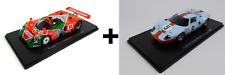 Set of 2 Model Cars 24h Le Mans Mazda 787B + Ford GT40 - 1:43 Spark Diecast LM09