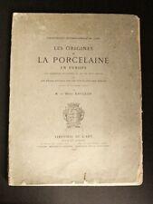 DAVILLIER Origines PORCELAINE EUROPE ITALIE MEDICIS ART DECORATIF RARISSIME 1882