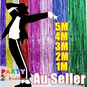 Metallic Tinsel Curtain Foil 1m 2m 3m 4m 5m Backdrop Function Party Decoration