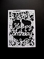 6 x A6 Happy Birthday Card Front Die Cuts , White.
