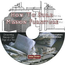 How to Build Mission Church Furniture Plans { Home Workshop Blueprints } on DVD