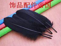 Wholesale 50/100/200/500pcs natural black goose feathers 15-20cm / 6-8inches