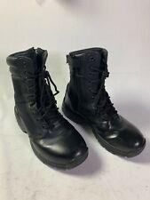 Interceptor Mens Leather Tactical Black Boots Size US 8 MNIN0440111