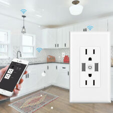 Smart Wall Outlet Plug WiFi In-Wall Socket Remote Control Time Home US T16 L9S1U