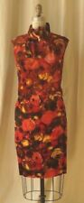 60s rose print velvet 3 piece skirt top and scarf Nelly de Grab