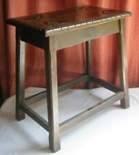 Wooden joint stool antique carved top
