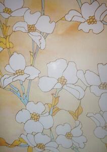 Decorative or Privacy Static Window Film ::: Warm Magnolia