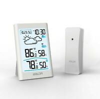 BALDR B0341 Indoor Outdoor LCD Thermometer-Hygrometer Weather Forecast w/ Sensor