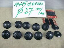 12 BOUTONS de CABAN et CIRES 1945 27 mm + Fil de lin  12 BUTTONS  REEFER JACKET