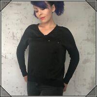 MICHAEL Michael Kors Shirt Long Sleeve Blouse Black Womens Size Small Top