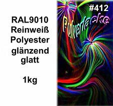PULVERLACK 1kg Beschichtungspulver Pulverbeschichtung Lackierpulver RAL9010 weiß