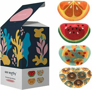 x48 Adhesive Occlusion Fruit Eye Patches - children kids teens adults who patch