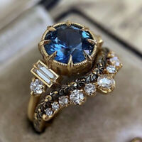 Women Fashion Zircon Ring Wedding Engagement Crystal Rings Party Jewelry Acces