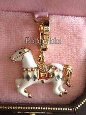 RARE! BRAND NEW JUICY COUTURE CAROUSEL HORSE BRACELET CHARM IN TAGGED BOX