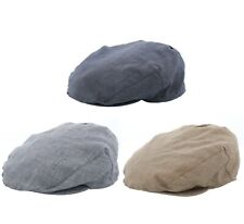 Failsworth Irish Linen Check Flat Cap Grey/Blue/Biscuit Sized