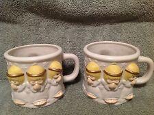 Hallmark Praying Angels Houston Harvest Gifts Mugs Porcelain Matching Set of 2