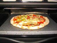 PIASTRA TEGLIA FORNO PIZZA PANE IN PIETRA REFRATTARIA LAVICA DELL' ETNA 45X40X3.