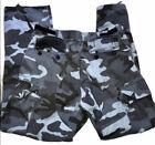Vintage Blue Camouflage Cargo Pants Size Medium