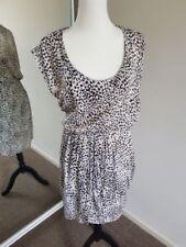 Animal Print Polyester Sheath Dresses for Women
