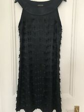 Black satin mini embellished dress. New with tags. Size 12, Principles.