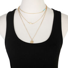 Simulated Gold Disc Necklace