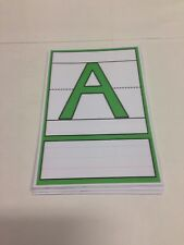 Alphabet letters Cards - Playdoh  wipe-n-write - Laminated card set Preschool