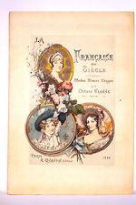 UZANNE. LA FRANCAISE DU SIECLE. MODE-MOEURS-USAGES. ILLUSTRE EN COULEURS. 1886.