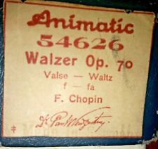 WALZER OP. 70  Chopin  LOVELY CLASSICAL  VINTAGE  PIANOLA  ROLL TESTED