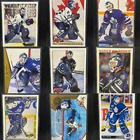 Felix Potvin 17 Card Rookie & Base Lot Maple Leafs Upper Deck Stadium Club RC