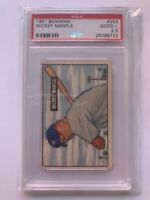 Mickey Mantle psa rookie 1951 bowman graded 2.5 Great Eye Appeal well centered