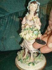 Italian Capodimonte female figurine by Bertolotti