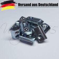 10x Nutensteine Nut 6 Profile mit Steg, Schrauben M4, NEU Federdruck kugel L0050