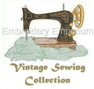 VINTAGE SEWING COLLECTION - MACHINE EMBROIDERY DESIGNS ON CD OR USB