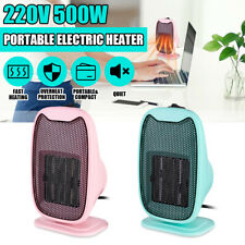 500W Mini Ceramic Electric Heater Home Office Heating Portable Winter Fan Silent