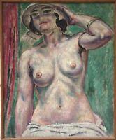 Augustin Carrera huile sur toile signée 1923 Opéra de Marseille art décor Musée