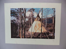 Chilko Dreaming 58/99 Print Native Teepee Camp Site Signed B R