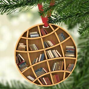 Best Xmas Gift For Book Lovers Globe Bookshelf Circle Ornament