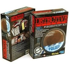 Fingerprint Kit Forensics Detective Police Crime Clues Science Project Kids Labs
