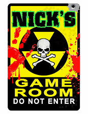 PERSONALIZED GAMEROOM  SIGN YOUR NAME VIDEO GAME ROOM Quality Aluminum Sign D421