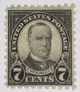 Travelstamps: 1923-26 US Stamps Scott #588 7c PERF. 10 MH OG McKinley
