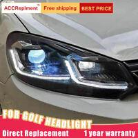 für VW Golf 6 2010-2013 Scheinwerfer Montage Bi-Xenon Linse Projektor LED DRL