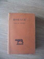 HORACE - Tome 1 - Odes et épodes - Coll. Guillaume Budé, 1927