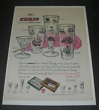 Print Ad 1952 HOUSEHOLD Libbey Glass Curio Collection Stemware by Freda Diamond