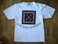 Maglietta T-shirt stilista Karl Lagerfeld KL Vintage originale collezione '80-90