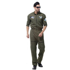 Dress Up Costume Men's Flier Fighter Overalls Air Force Army Cosplay Suit