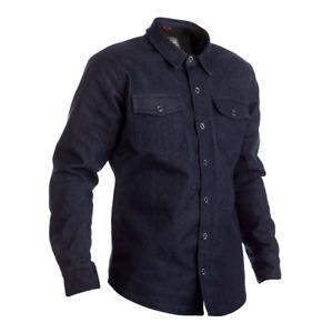 RST 2411 Vaqueros Ce Hombre Blindado Moto Camiseta - Azul Oscuro